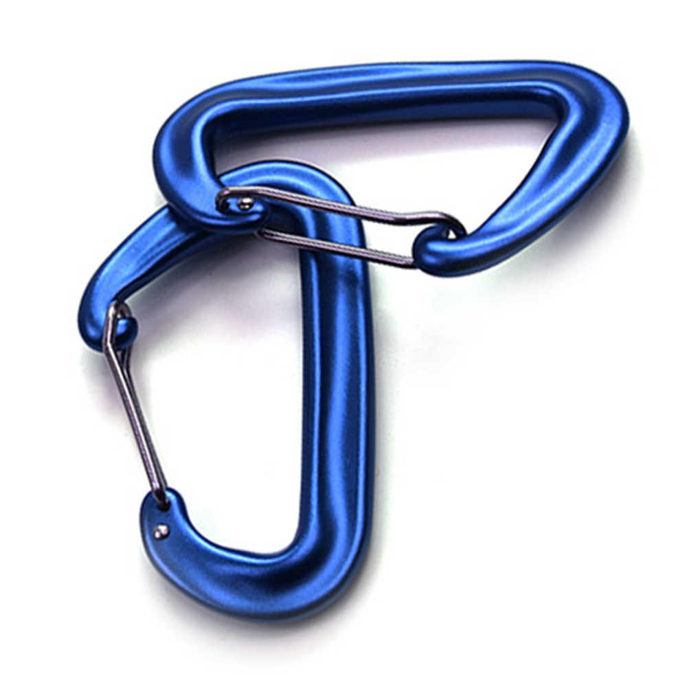 2 шт. 12KN цепочка для ключей клип карабин с высокими показателями рабочего крюк Открытый Отдых Гамак пружинными пеший туризм с рюкзаком с пряжкой Разделение крюк