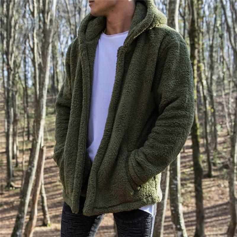 HIRIGIN Newest Men's Winter Slim Casual Warm Hooded Coat Men Jacket Fleece Outwear New Snow Thick Suit Clothes 3