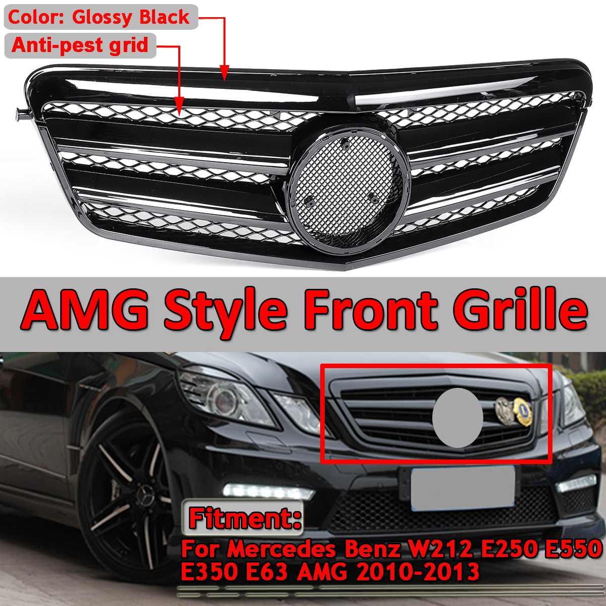 Grille de calandre de pare-chocs avant de voiture de Style W212 GTR pour Mercedes pour Benz E250 E550 E350 E63 pour AMG 2010-2013 grilles de course sans emblème