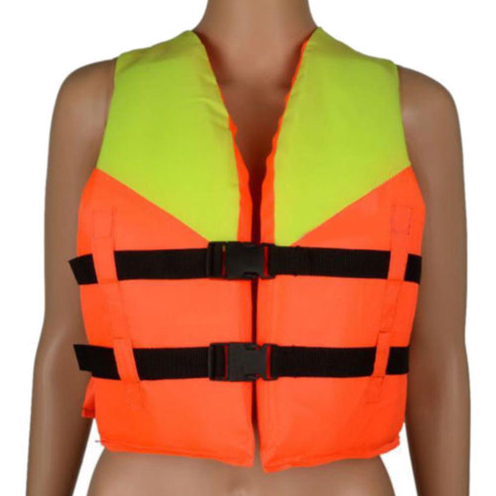 Kids Orange Foam Water Sports Life Jacket Vest For Flood Water Swimming Rowing Skiing 4-10 Years Old Children 34cm