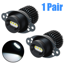 2Pcs 12-30V 20W LED Angel Eyes Marker Halo Ring Light 1200LM 7000K White Headlamp Bulb For BMW E90 LCI цена
