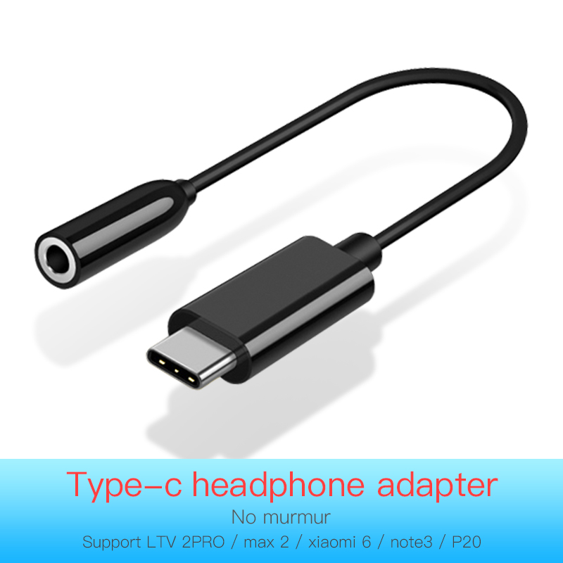 Type C To 3.5mm Earphone Adapter USB Type-C To 3.5 Headphone Cable Aux Audio Cable For Huawei Mate 10 P20 Pro Xiaomi Mi 8