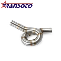 RANSOTO Motorcycle Exhaust System Slip On Middle Pipe For For Benelli 300 BJ300 GS BN302 TNT300 2014 2015 2016 2017 2018