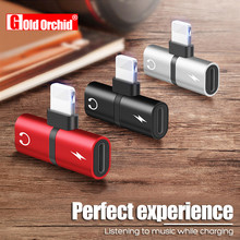 2 In 1 Dual Ports Headphone Adapter Phone Case mini USB For iPhone