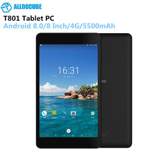ALLDOCUBE T801 8 Inch 4G Tablet 1920 X 1200 IPS Android 8.0 Deca-Core Phone Call Phablet 3G 32G 2.0MP+5.0MP 5500mAh Tablets PC