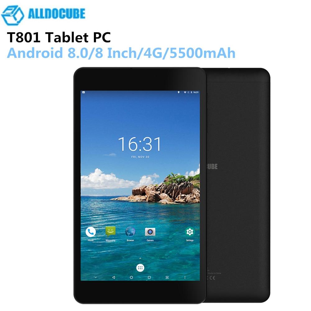 ALLDOCUBE T801 8 pouces 4G tablette 1920X1200 IPS Android 8.0 deca-core appel téléphonique Phablet 3G 32G 2.0MP + 5.0MP 5500 mAh tablettes PC