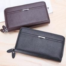 new Men Wallet Luxury Long Clutch Handy Bag Moneder Male Leather Purse Men Clutch Bags carteira Masculina #1024
