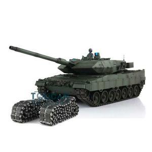 Image 1 - Henglong 1/16 зеленый 6,0 версия инфракрасный боевой Leopard2A6 RC Танк 3889 отдача ствола металлический трек Резина TH12771