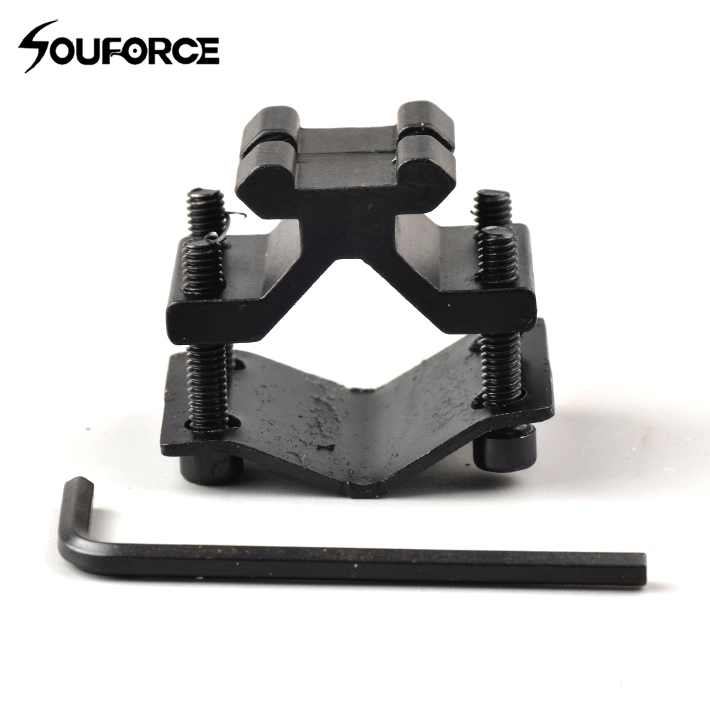 Tactical Bipod Adapter With 20mm Rail Mount For Bipod With Picatinny Rail And Flashlight Or Riflescope