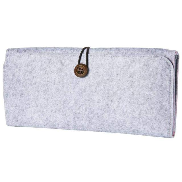 Para Nintendo Caso Switch-Feltro Cinza Protective Carry Case Capa Bag Bolsa para Nintendo Console do Switch