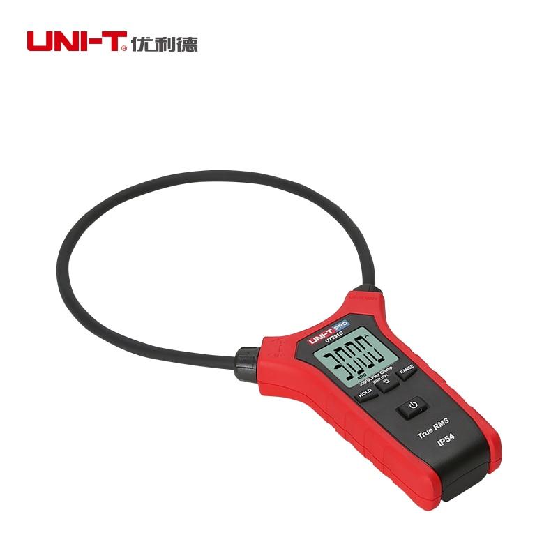 UNI T UT281C 3000A Flexível Digital clamp meter True rms AC inrush atual braçadeira amperímetro IP54 Data hold backlight auto poder off - 3