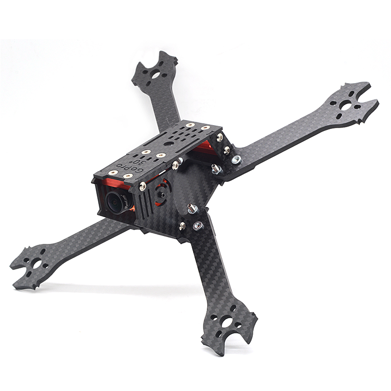 FlyFox No.9 Shark 210mm 5 Inch Carbon Fiber 4mm Arm FPV Frame for RC Drone FPV Racing Multicopter kit Motor Part