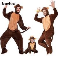 Gacloz Animal Costumes Family Set Monkey Costume for Child Adult Family Matching Boy Girl Chimp Cosplay Jumpsuit for Men Women
