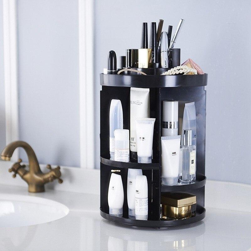 360 Rotating Cosmetics Storage Box Transparent Desktop Skin Care Produc