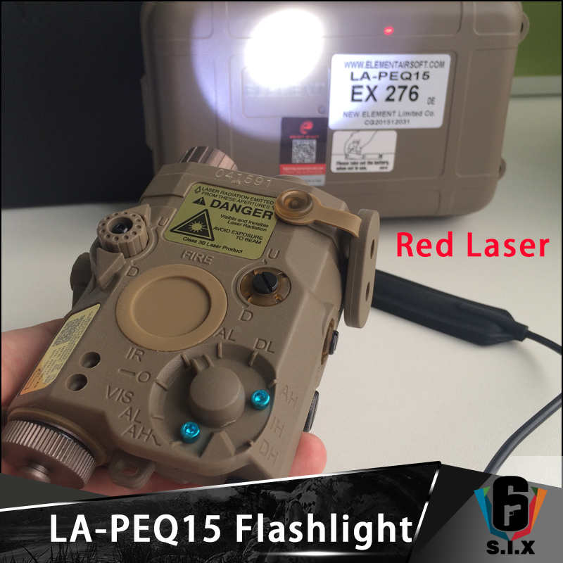 Element Softair Surfire Tactical Laser Airsoft LA PEQ15 Red Laser Gun Picatinny Rail Infrared Flashlight 175Lumen