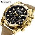 Часы Relojes MEGIR мужские  спортивные  кварцевые  водонепроницаемые