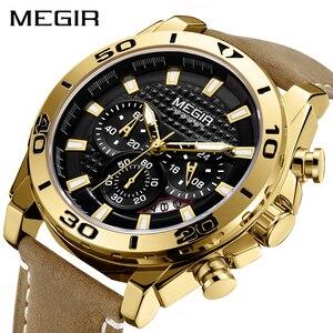 Image 1 - Relojes 2020 MEGIR zegarek mężczyźni moda Sport zegar kwarcowy męskie zegarki Top marka luksusowy wodoodporny zegarek godzina Relogio Masculino