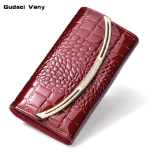2019 new Korean womens wallet female long section leather tri-fold large capacity