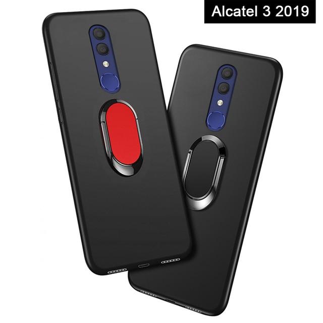 42854e17e46efb Cover for Alcatel 3 2019 5053Y 5053D 5053K Case luxury 5.94 inch Soft Black  Plastic Coque