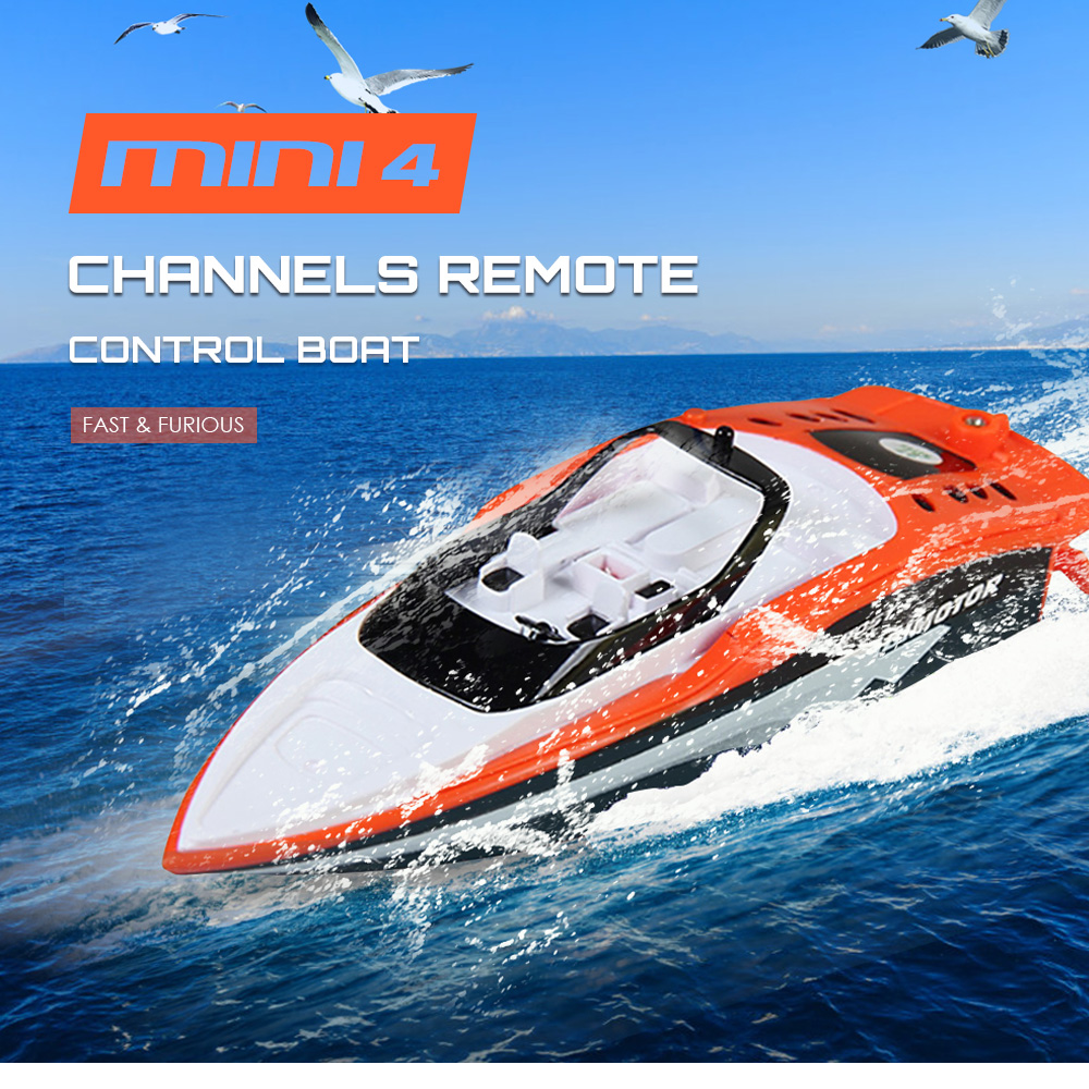 Us 13 29 33 Off Rc Boat Mini 4 Channels 3392m Fast Remote Control Boat Infrared Control 12 14m Portable Strong Motor Power Water Toys For Kids In Rc