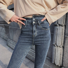 цены на 2019 Spring Summer Solid Wash Stretch Skinny Jeans Woman High Waist Pencil Denim Pants Female Trousers  в интернет-магазинах