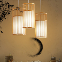 SETTEMBRE Southeast Asian Japanese Modern Bamboo Chandelier Restaurant Light Wood Chandelier
