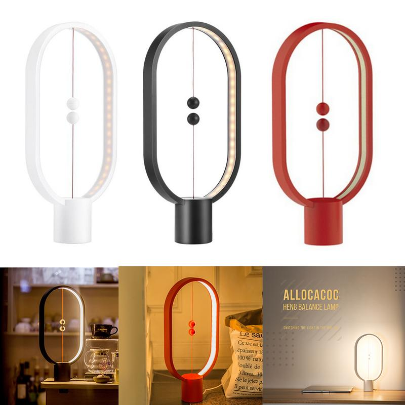 Creative Heng Balance Lamp LED Night Light USB Powered Home Decor Bedroom Office Night Lamp for Halloween Christmas Lights icoco usb rechargeable led magnetic foldable wooden book lamp night light desk lamp for christmas gift home decor s m l size