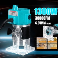 1300W 1/4 30000RPM Electric Hand Trimmer Wood Laminate Palms Router Joiners Power Tool Woodwork Carving Machine 110V/220V