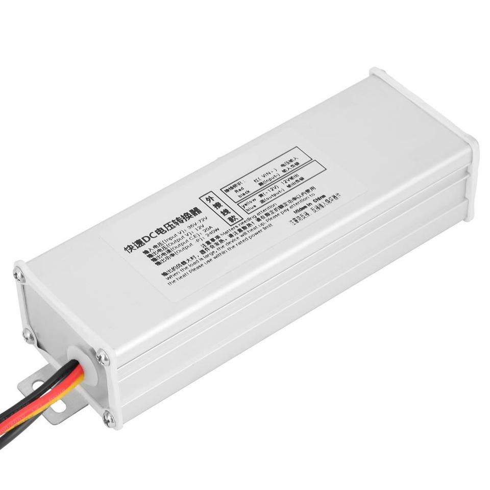 Electronics 240W DC Voltage Converter External Wiring Voltage Converter 36-72V to 12V 20A 240W DC Converter Adapter Voltage Transformer