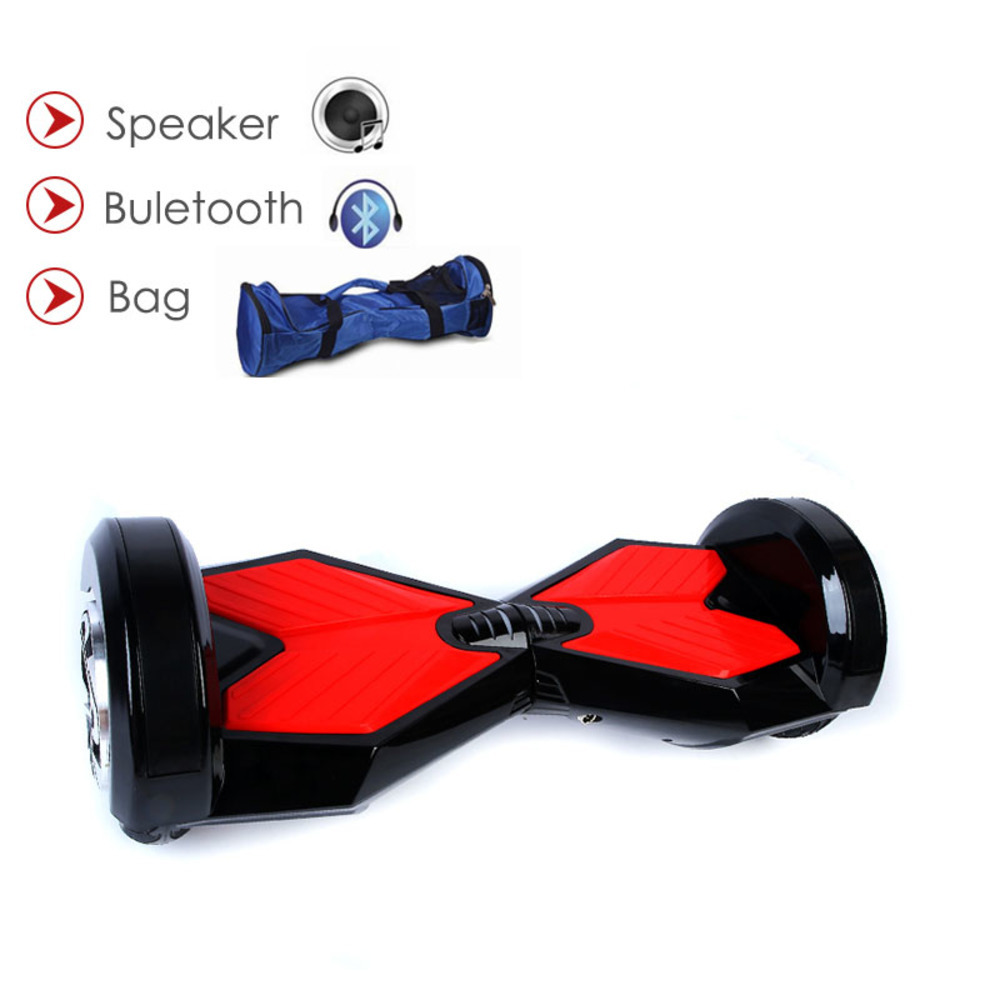 Hoverboard Electric Scooter Led Light 8 Inch With Bluetooth Remote Speaker Skateboard Self Balance