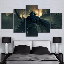 Home Decor Modular Canvas Picture 5 Piece Bloodborne Video Game Halloween Painting Poster Wall Wholesale