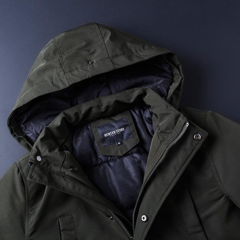 Pour Nouvelle Parka Parkas Épaisse Veste Tops Hommes Chaude green Marque Coton 20 Varsanol Manteau Hiver Degré Homme Black blue g1nfqIwwS