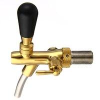 G5/8 Shank Gold Plating Beer Faucet Stainless Steel Adjustable Pub Bar Draft Beer Faucet for Kegerator Tap Homebrew Equipment