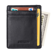 AGBIADD Slim Wallet RFID Front Pocket Wallet Minimalist Secure Thin Credit Card Holder B564-50