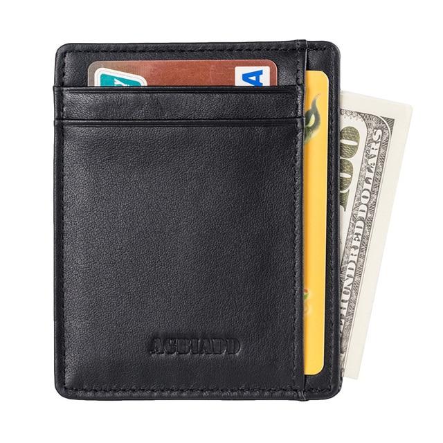 2ff271b2679 AGBIADD Slim Wallet RFID Front Pocket Wallet Minimalist Secure Thin Credit  Card Holder B564-50