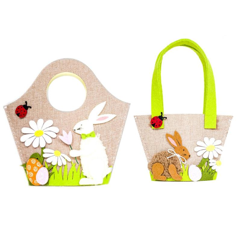 Cute Easter Decoration Party Supplies Kids Candy Egg Toy Gift Storage B