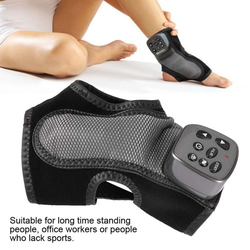 Electric Foot Ankle Massager Vibration Heating Foot Acupuncture Points Massage Health Care US Plug with Adapter