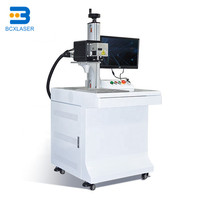 2D table fiber laser marking machine for deep engraving cutting thin