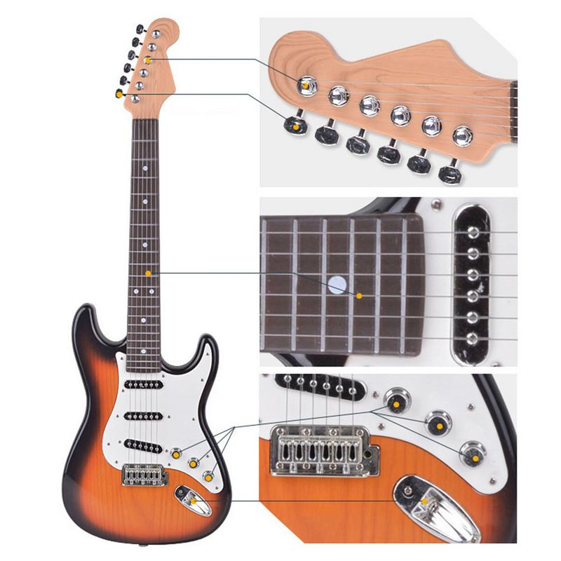 Playable Children s Electric Guitar Toy Simulation Music 6 String Beginners Children s Day For Children