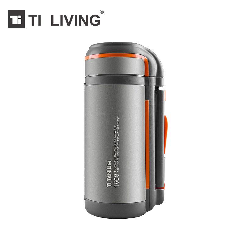 Титановый чайник не-бутылка с резьбой с бутылкой сумка для дома и на открытом воздухе Кемпинг Туризм Путешествия чайник большой емкости 1500 ...