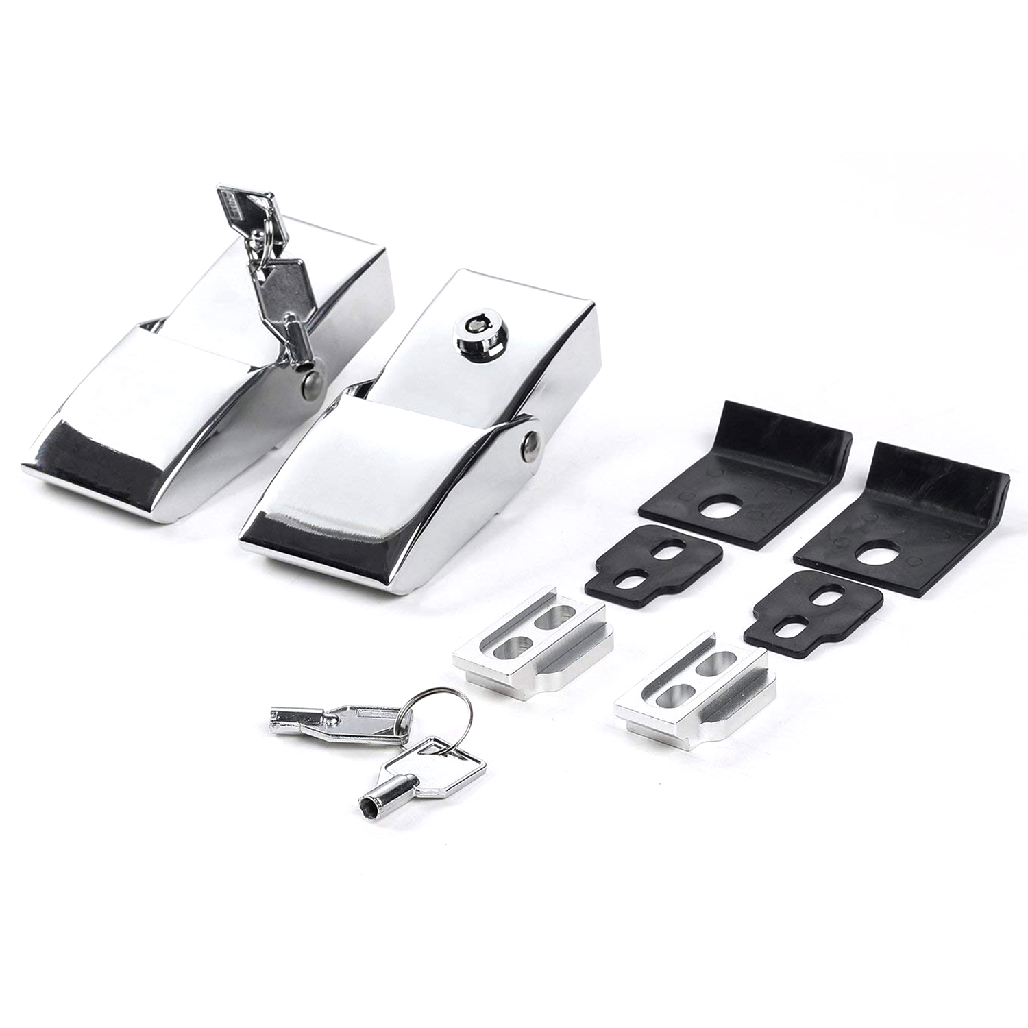 BIFI-Electroplating Machine lid lock engine Stainless steel + aluminum alloy tower buckle Wrangler engine lock buckle with loc
