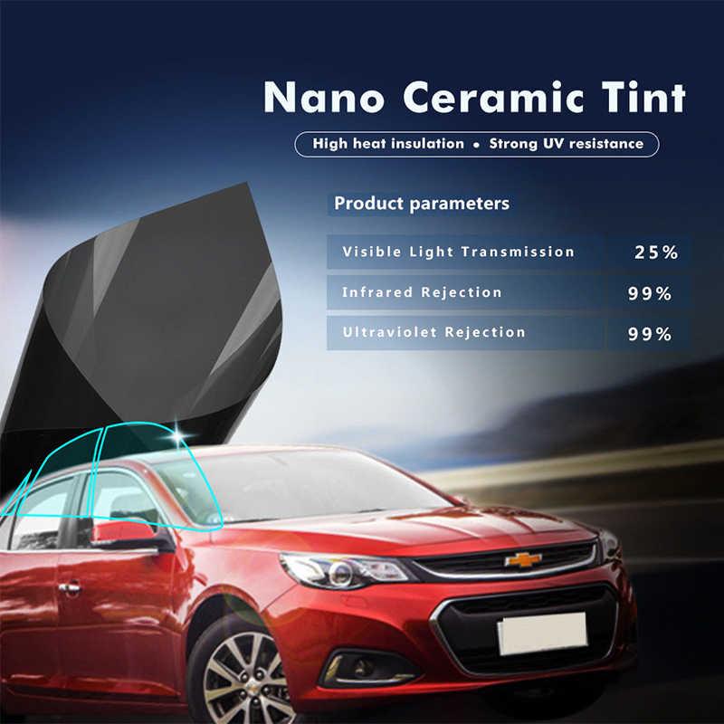 50 ซม.X 300 ซม.IR100% VLT20 % ความร้อน IR Nano เซรามิคฟิล์มพลังงานแสงอาทิตย์รถสติกเกอร์
