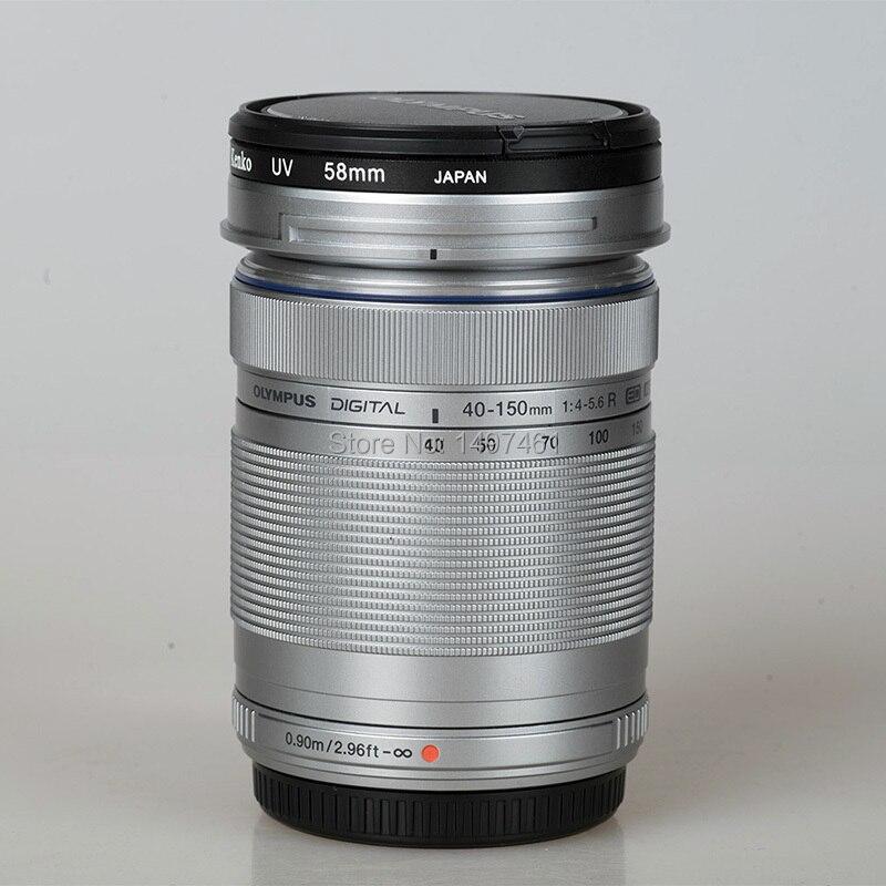 Pas de boite Argent M. ZUIKO DIGITAL ED 40-150mm f/4-5.6 R lentille Pour Olympus E-PL8 E-PL7 E-PL6 E-PL3 E-PL1 EP3 EP5 E-M1 E-M5 E-M10 caméra