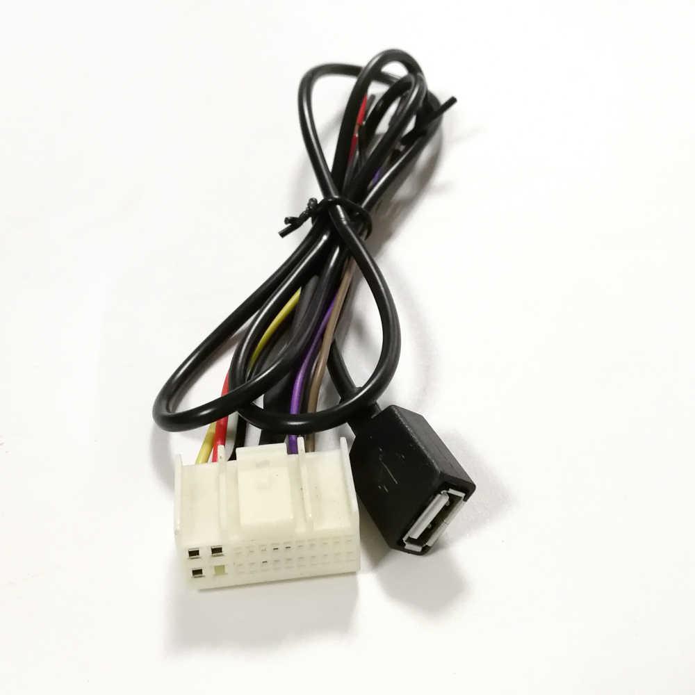 Biurlink 2 estilos USB/AUX USB coche Radio arnés adaptador de cableado USB para Kia para Hyundai