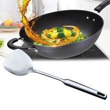 1 шт. лопатка для приготовления пищи блестящая Прочная нержавеющая сталь длинная ручка лопатка Тернер для домашнего ресторана