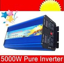 Wyświetlacz cyfrowy 5000 W czysty sinus falownik sinusoidalny 24VDC do 220VAC (10000 W szczyt) DC na AC na zewnątrz domu falownika