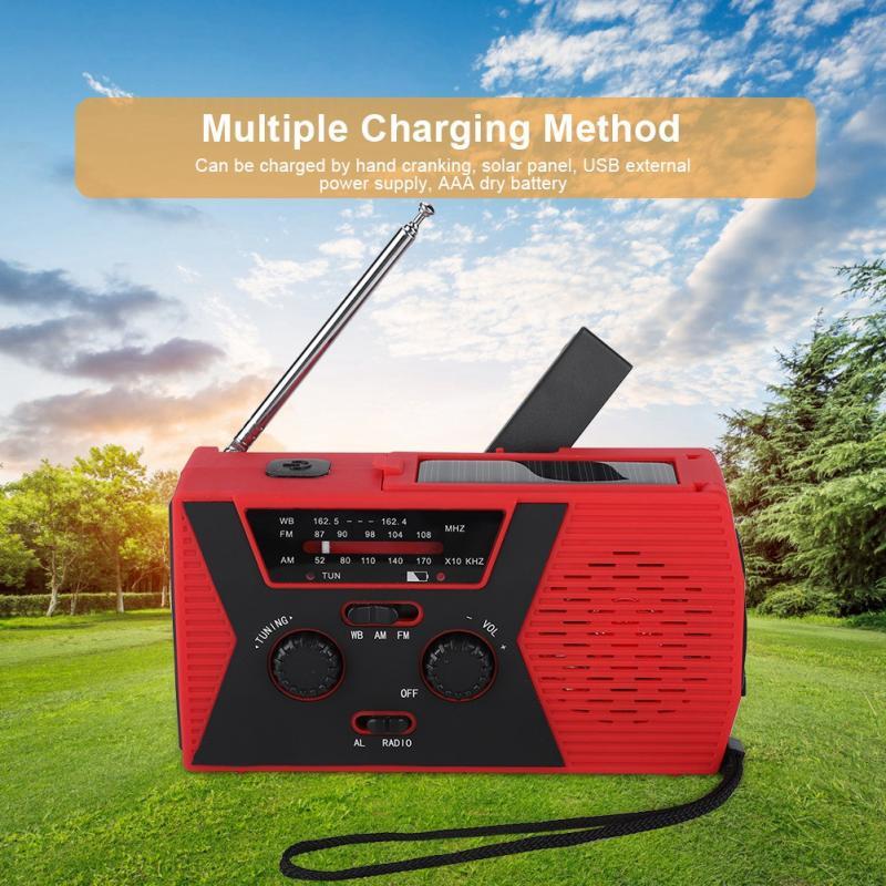 SchöN Handkurbel Solar Powered Tragbare Am/fm Noaa Wetter Radio Mit Led Taschenlampe Für Uns Tragbares Audio & Video