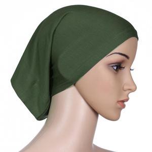 Image 4 - Muslim Women Head Scarf Cotton Underscarf Stretch Hijab Cover Headwrap Underscarf Cap Shawl Islam Scarf Inner Headband Bonnet