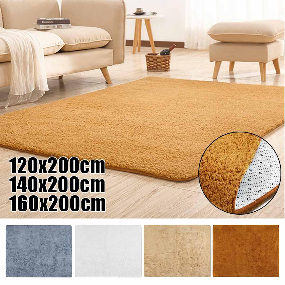 200 cm doux moelleux Shaggy tapis tapis pour salon moderne enfants chambre chambre salle de bains anti-dérapant tapis canapé sol tapis