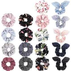 18 цветов женские большие шифоновые Цветочные резинки для волос заколки для волос Лук шифон конский хвост держатель, шифон цветок